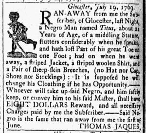 Aug 1 - 8:1:1769 Essex Gazette