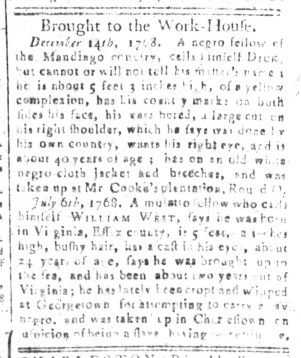 Aug 14 - South-Carolina and American General Gazette Slavery 6