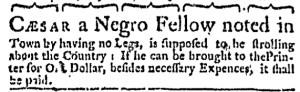 Aug 17 - Boston Weekly News-Letter Slavery 1