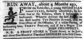 Aug 17 - South-Carolina Gazette Slavery 3