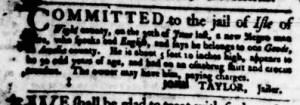 Aug 17 - Virginia Gazette Purdie and Dixon Slavery 3