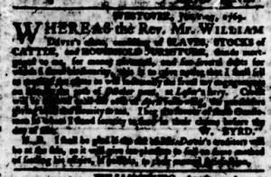 Aug 17 - Virginia Gazette Purdie and Dixon Slavery 5