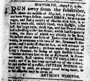 Aug 17 - Virginia Gazette Rind Slavery 1