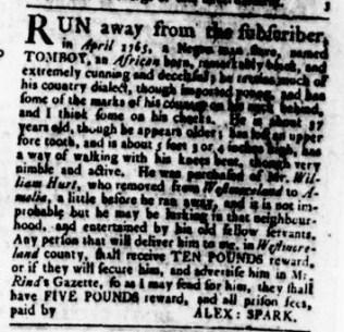 Aug 17 - Virginia Gazette Rind Slavery 4