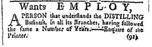 Aug 5 - 8:5:1769 Providence Gazette