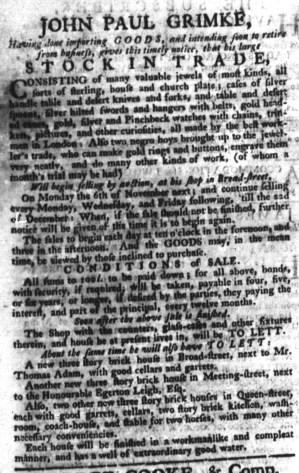 Aug 6 - 8:3:1769 South-Carolina Gazette