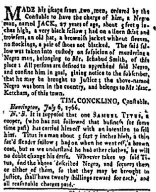 Aug 7 - New-York Gazette and Weekly Mercury Slavery 5