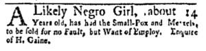 Aug 7 - New-York Gazette and Weekly Mercury Slavery 6