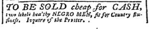 Aug 7 - Pennsylvania Chronicle Slavery 2
