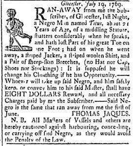 Aug 8 - Essex Gazette Slavery 1