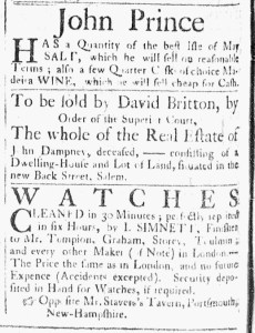 Jul 18 - 7:18:1769 Essex Gazette