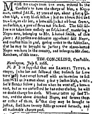 Jul 24 - New-York Gazette Weekly Mercury Slavery 2