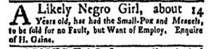 Jul 24 - New-York Gazette Weekly Mercury Slavery 4