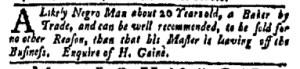 Jul 24 - New-York Gazette Weekly Mercury Slavery 7