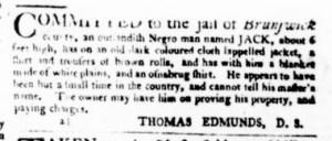 Jul 27 - Virginia Gazette Purdie and Dixon Slavery 1