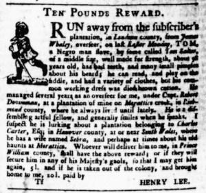 Jul 27 - Virginia Gazette Purdie and Dixon Slavery 10