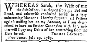 Jul 29 - 7:29:1769 Providence Gazette
