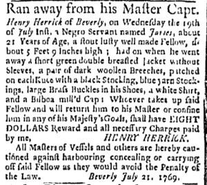 Jul 31 - Boston Evening-Post Slavery 3
