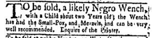 Jul 31 - New-York Gazette Weekly Mercury Slavery 1