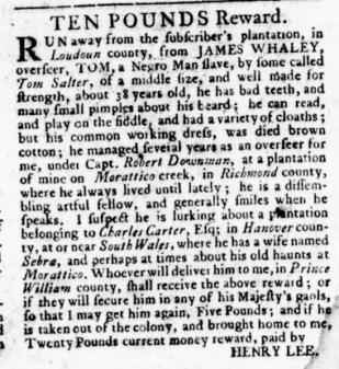 Aug 24 - Virginia Gazette Rind Slavery 11