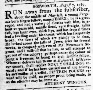 Aug 24 - Virginia Gazette Rind Slavery 8