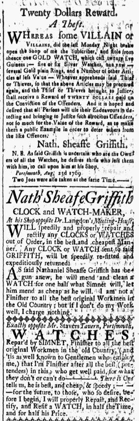 Sep 1 - 9:1:1769 New-Hampshire Gazette