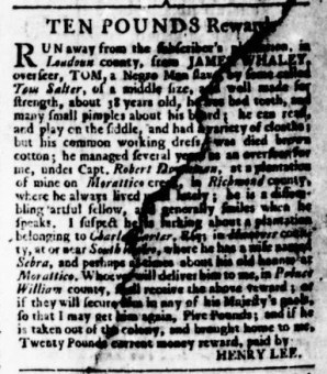 Sep 14 - Virginia Gazette Rind Slavery 5