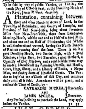 Sep 18 - New-York Gazette and Weekly Mercury Slavery 6
