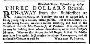 Sep 18 - New-York Gazette or Weekly Post-Boy Slavery 1