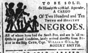 Sep 18 - South-Carolina and American General Gazette Slavery 4