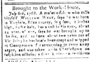 Sep 18 - South-Carolina and American General Gazette Slavery 6