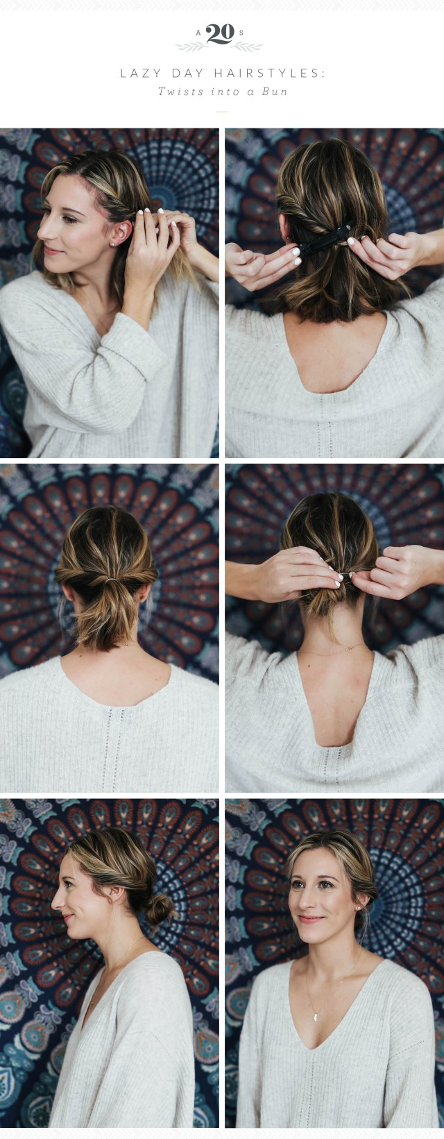 3 easy hairstyles for lazy days – advice from a twenty something