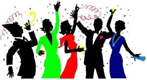 clip art of a party crowd