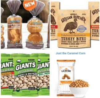 collage of snack foods