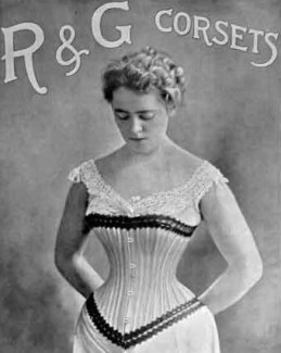 woman wwearing a corset
