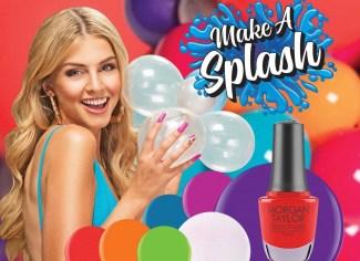 poster morgan taylor gelish make a splash collection nail polish