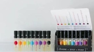 a stock photo of the ime natural perfume collection pack