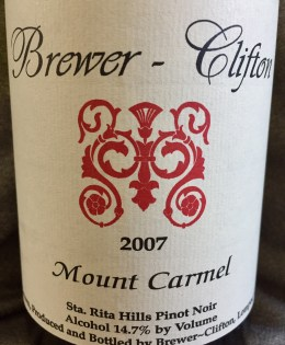 2007 Brewer-Clifton Mount Carmel Pinot Noir
