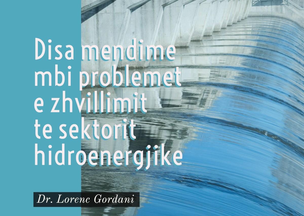 Disa reflektime mbi problemet e zhvillimit te sektorit hidroenergjike