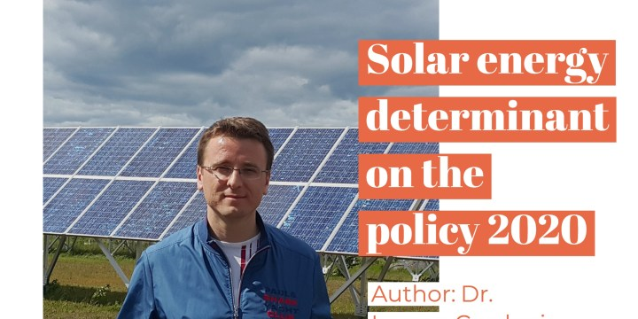 Solar energy determinant on the policy 2020