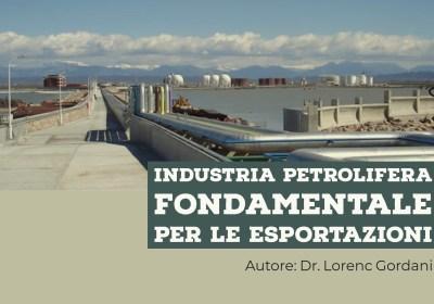 Industria petrolifera fondamentale per le esportazioni