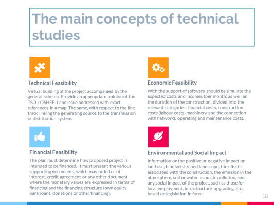 technical studies on energy infrastructure viability of the proposed project transmission or distribution system environmental and social impact studies on energy infrastructure