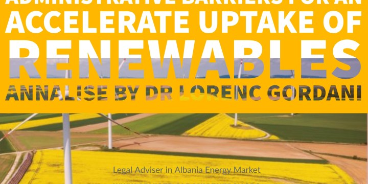 Address of administrative barriers for an accelerate uptake of renewable