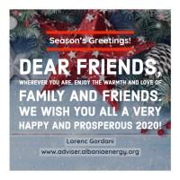 Season's Greetings - Gëzuar Festat - Buone Feste, Lorenc Gordani 31 Dec 2019