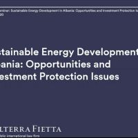 Albania toward large and sustainable developments