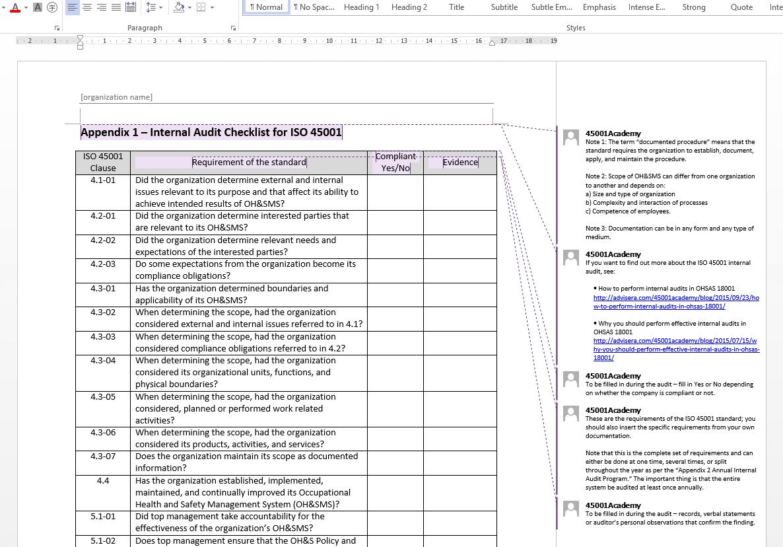 Sample Excel Templates Internal Audit Template Excel