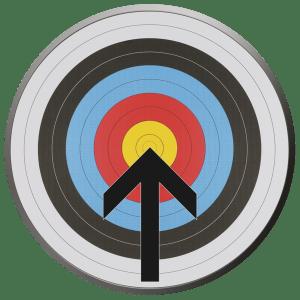 arrow hitting bullseye