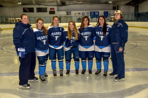 CAPTAINS & SENIORS: Asst. Coach Molly, Sarah Buckley, Mae Norton, Kaydee Purcell, Alycia Gillen, Cassie Mirasolo, and Head Coach Michelle Roach. (Advocate photos by Ross Scabin)