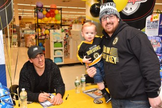 Brad Marchand with Cannan and Joshua Allen