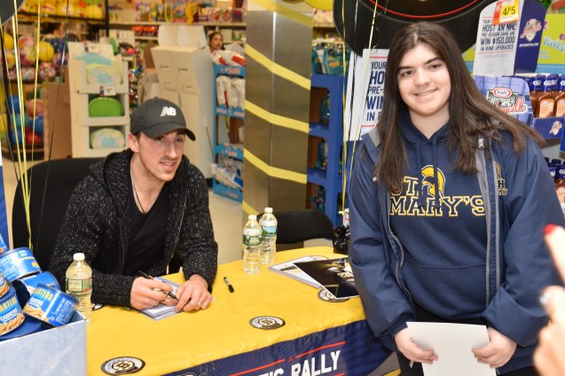 Brad Marchand with Lauren Vaccaro